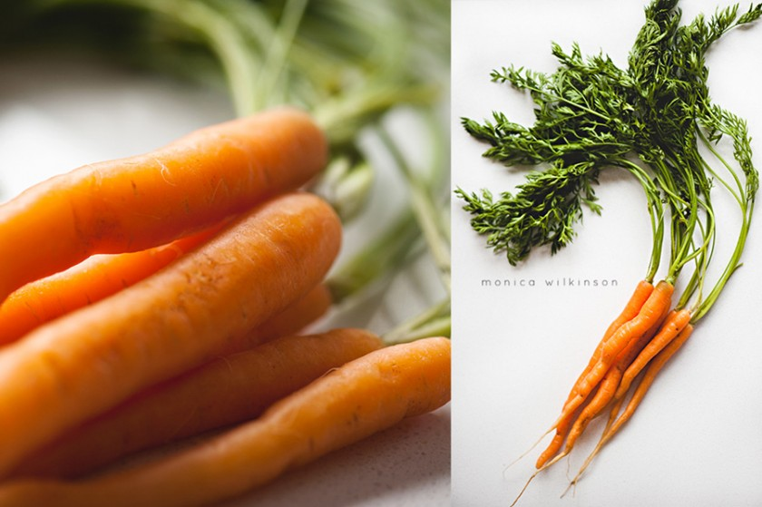 macro carrot pictures by Monica Wilkinson