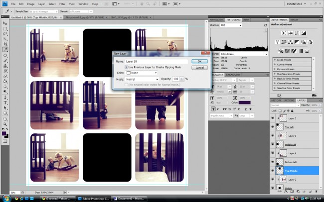 changing elements of a storyboard in adobe photoshop