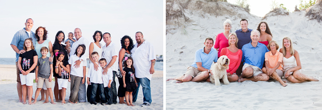 large family beach photography by Courtney Keim