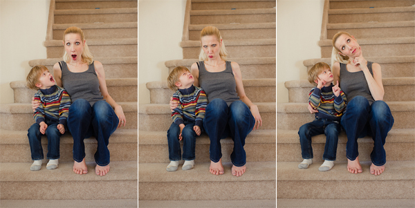 having fun with self portraits and your family by Sarah Wilkerson