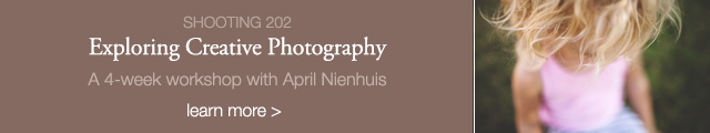 exploring creative photography online workshop by April Nienhuis for Clickin Moms