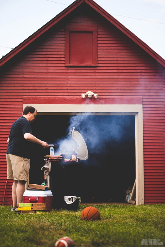 grilling out photo by April Nienhuis