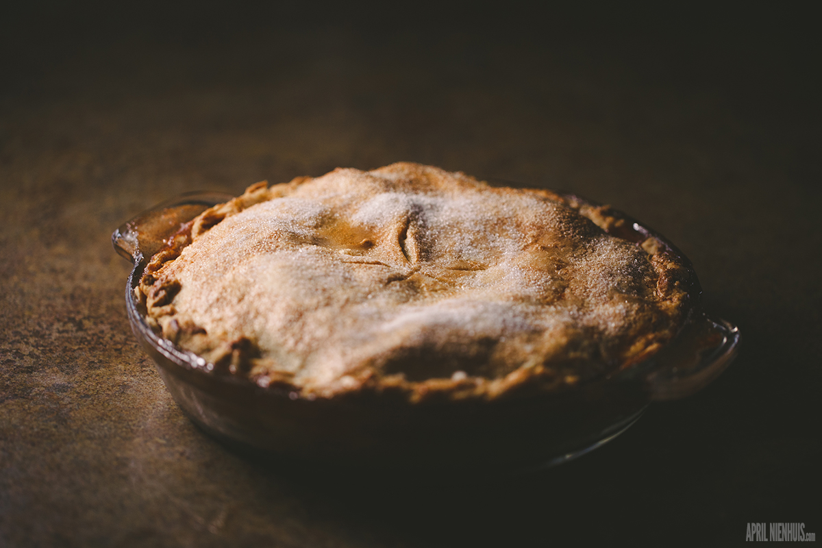 homemade apple pie by April Nienhuis