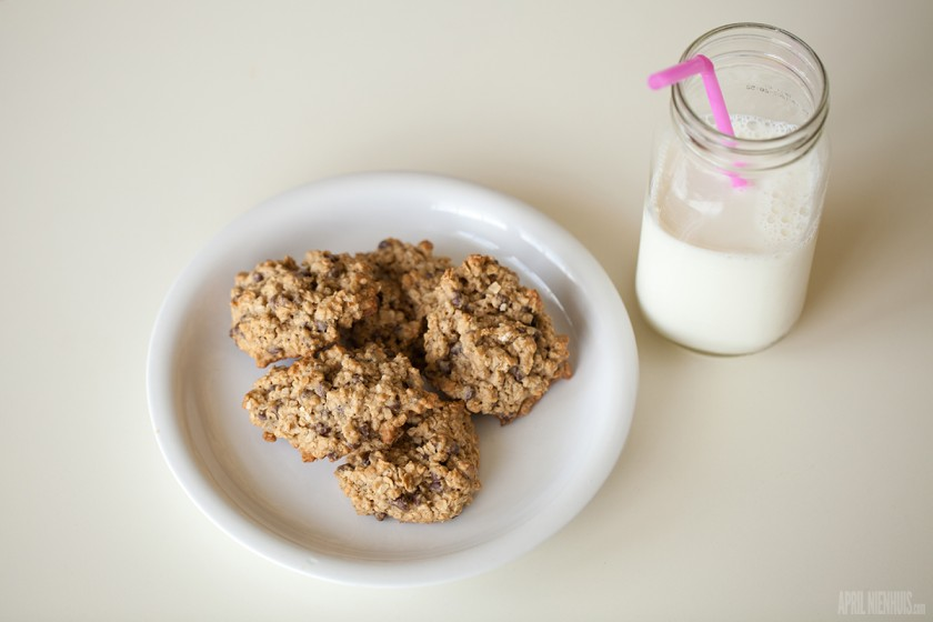 vegan cookies and milk by April Nienhuis