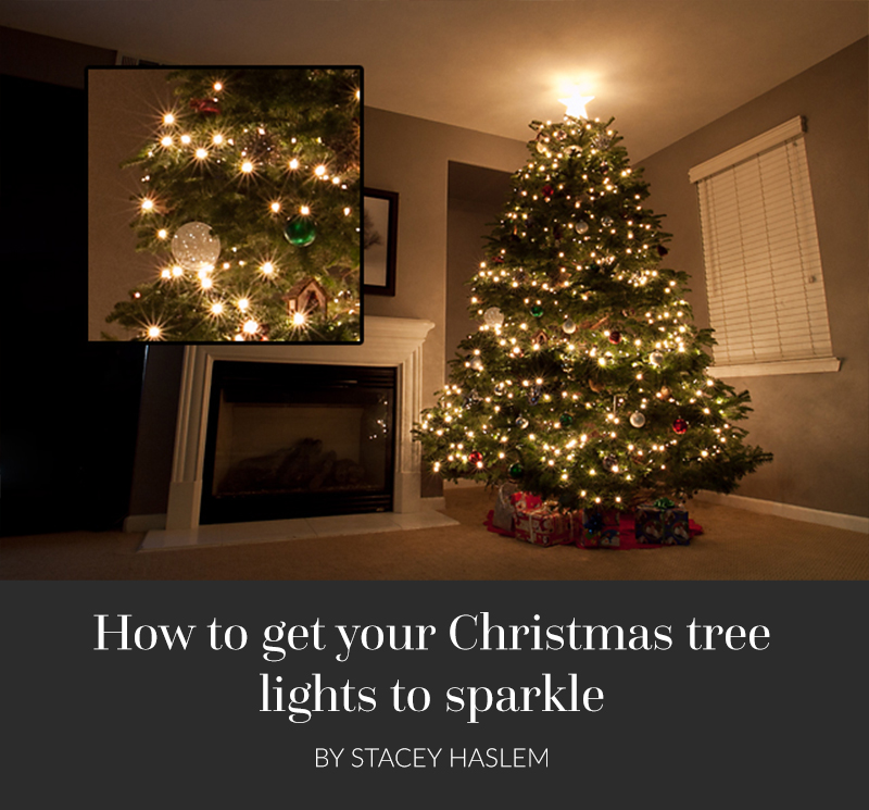 Have you ever wondered how to get the lights on your tree to 'sparkle'? The trick is all in your aperture setting and I can show you how!