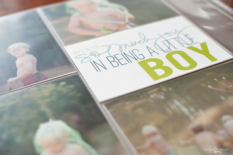 making a scrapbook album of your pictures