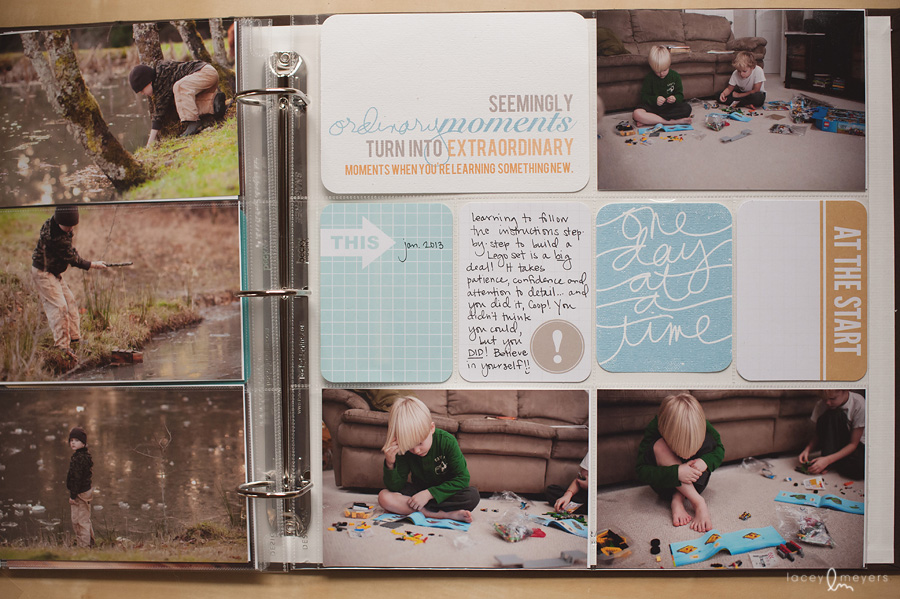 scrapbooking photo album by Lacey Meyers