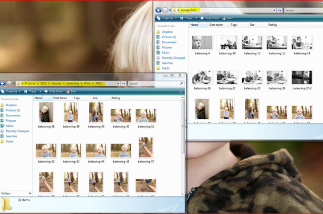 storing pictures to order on desktop screenshot by online photo instructor Lacey Meyers