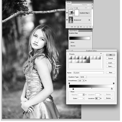 Creating Contrast using the Gradient Map in Photoshop photo