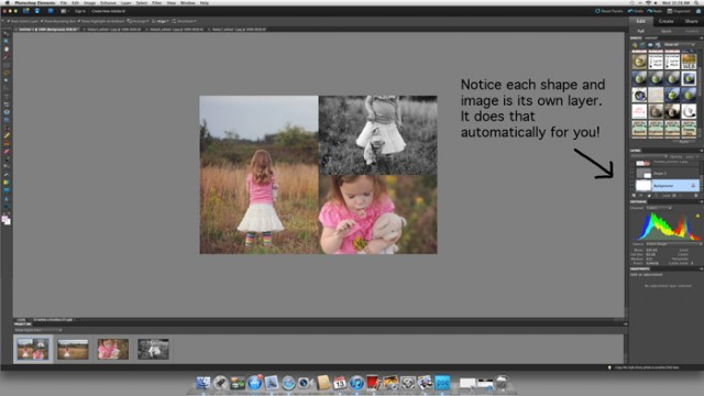 how to create collage templates in photoshop elements photo