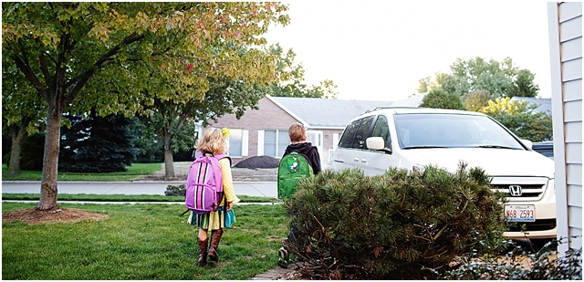 heading off to school photography by Kellie Penn