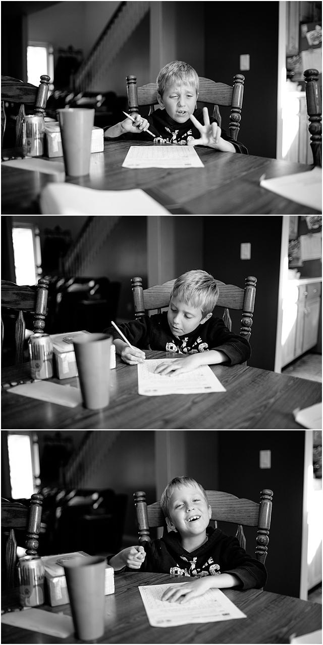 lifestyle homework photography by Kellie Penn