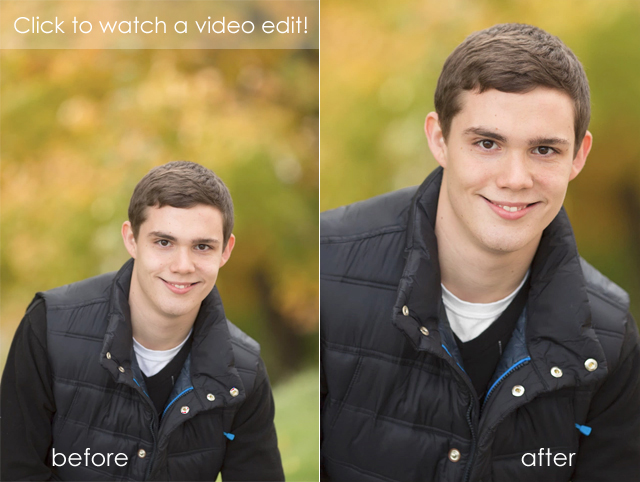 Adobe Photoshop CS6 portrait edit before and after by Lisa Harrison