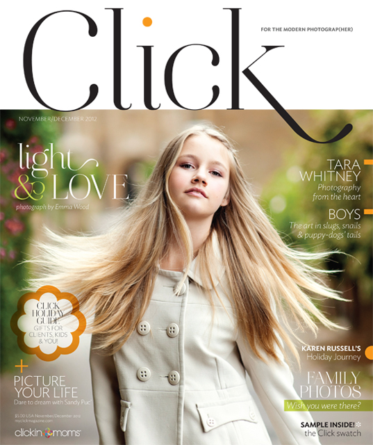 Click magazine for female photographers November and December 2012 issue