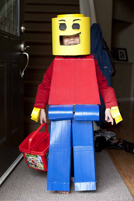 Lego Man Halloween Costume and dress up by Ally squishyprints & costume member share inspiration - Clickin Moms blog: Helping you ...