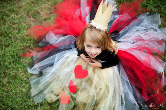 Alice in Wonderland Queen of Hearts Halloween Costume and dress up by Jennifer Dell JenniferDell