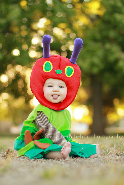 caterpillar Halloween Costume and dress up by Liz whippetmom
