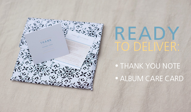 delivering photo albums and photography album packaging by Haley Lorraine