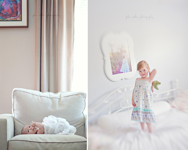 child photography diptych