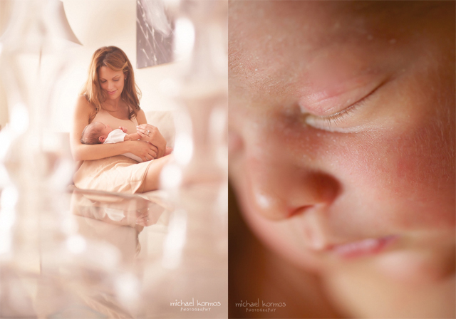 framing with foreground objects and newborn detail photography by Michael Kormos