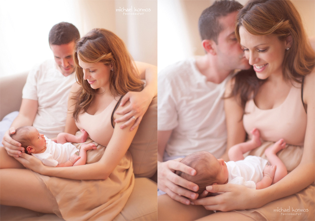 lifestyle newborn and family photograph by Michael Kormos