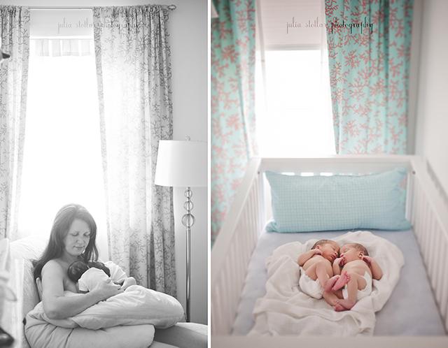 twin newborn photography by Julia Stotlar