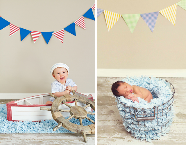 Diy scrapbook bunting flags photography prop by helen john