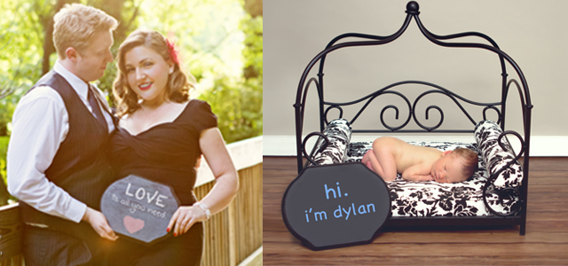 DIY chalkboard for photography prop by Helen John