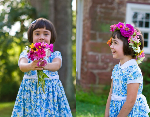 DIY flower garland photography prop by Helen John