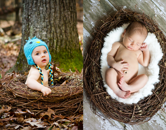 Diy baby nest photography prop by helen john