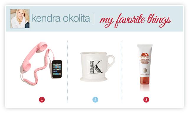 photographer Kendra Okolita's favorite things