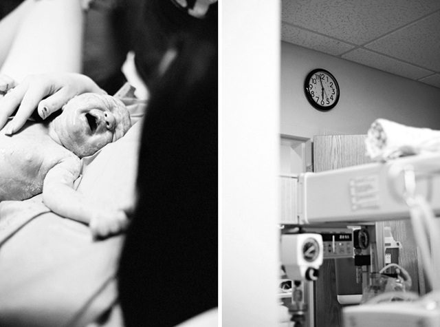 photographing births in the hospital