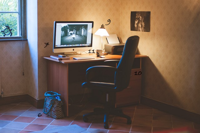 desk and office space of photographer Emma Wood