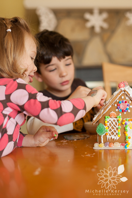 making a gingerbread house holiday tradition