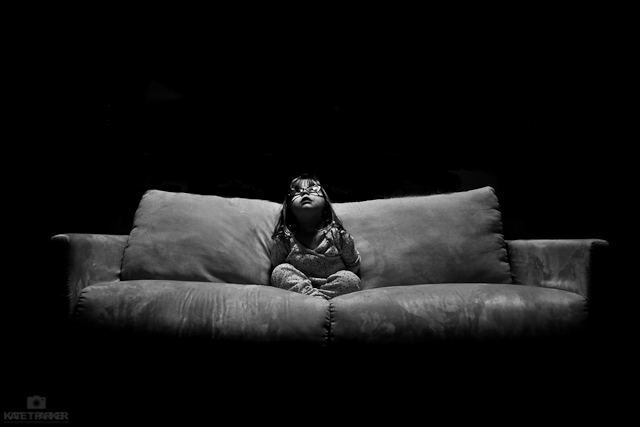 Black and white natural light child photography by kate t parker