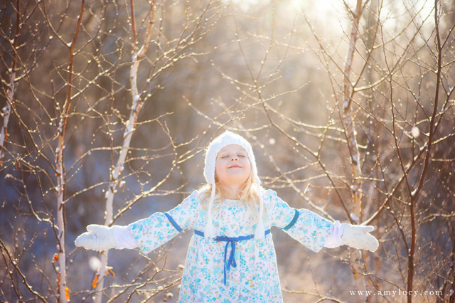 how to use the light when shooting in the snow by Amy Lucy Lockheart