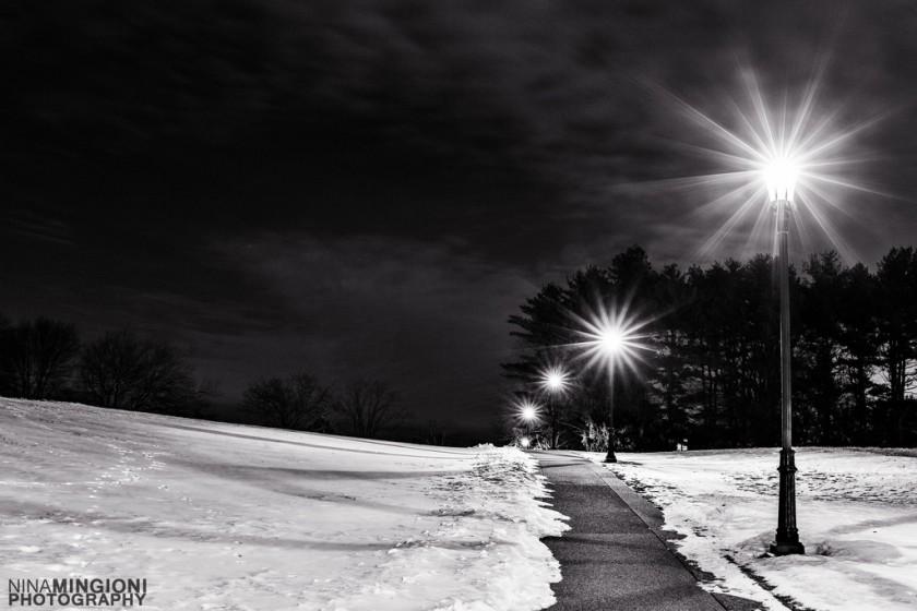 night time starburst photo by Nina Mingioni