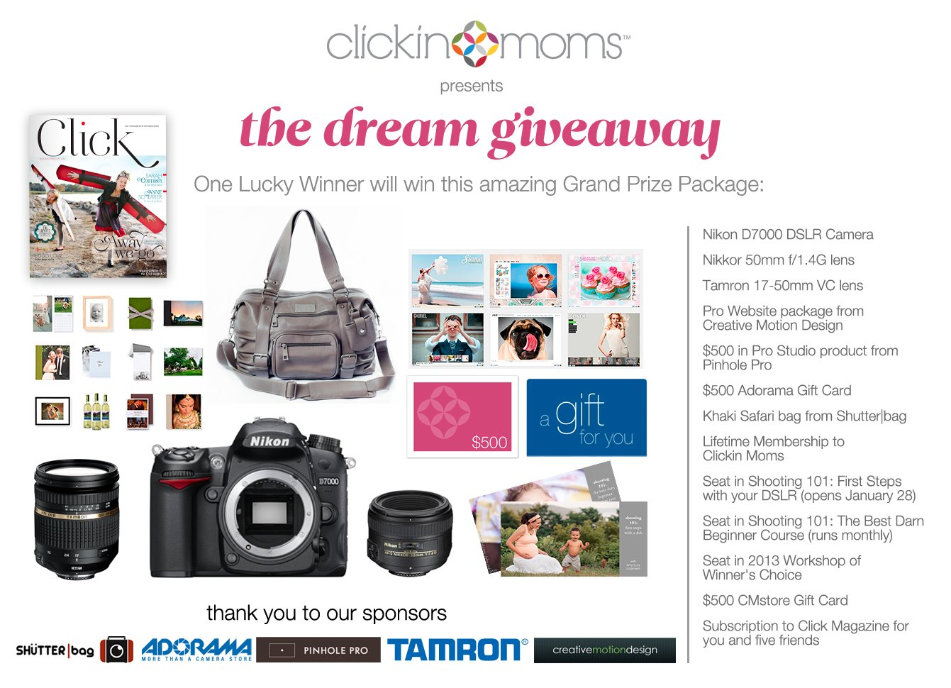 photography giveaway from Clickin Moms