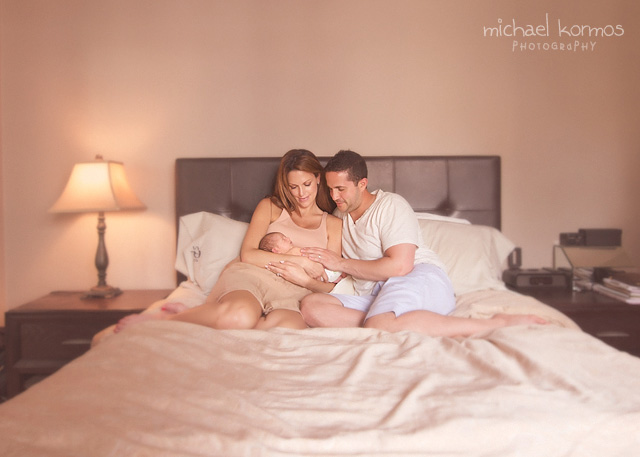 unique perspectives in lifestyle newborn portraiture by Michael Kormos