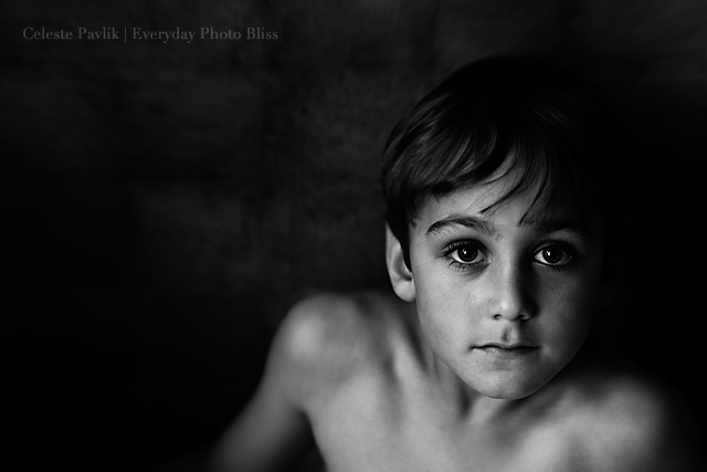 black and white portrait by Celeste Pavlik