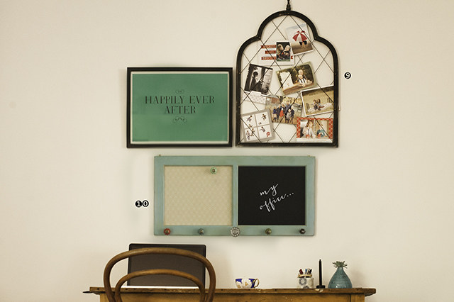 desk area and hangings of Australian photograph Elle Walker