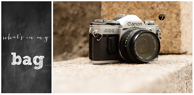 Canon AE-1 film camera from online photography workshop instructor Elle Walker