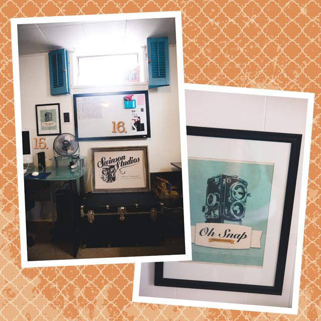 office area of Colorado photographer Lora Swinson