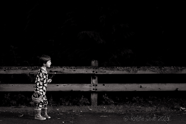 Krista Sodt black and white child photography
