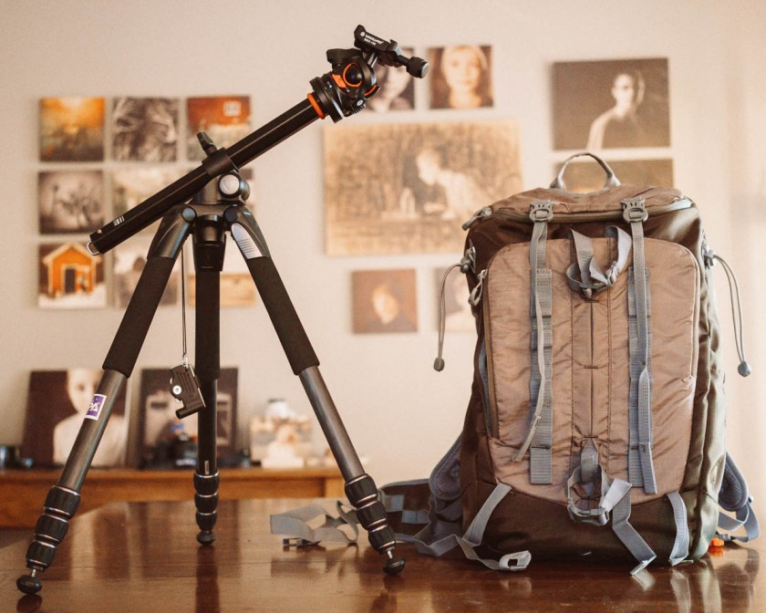 Vanguard tripod and Sedona camera backpack