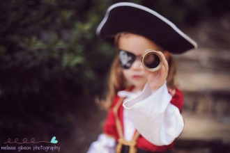 girl dressed up as a pirate by Melissa Gibson