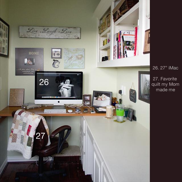 office area of photographer Celeste Pavlik