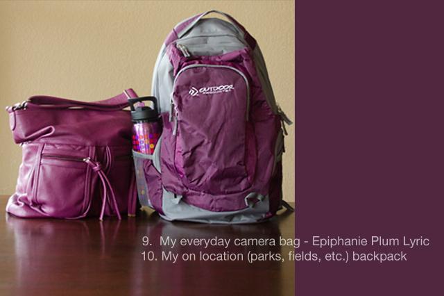 the camera bag of photographer Celeste Pavlik