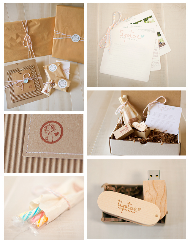 photography packaging of Beth Orey of Tip Toe Photography