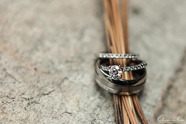 wedding rings detail photograph by Anita Martin